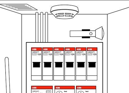 1. Plaats een rookmelder en zorg voor een zaklamp in uw meterkast