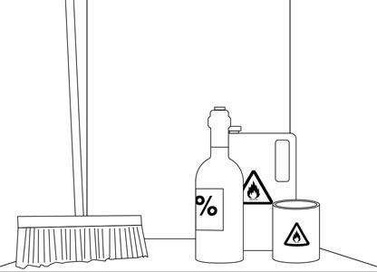 5. Bewaar geen brandbare materialen in de meterkast